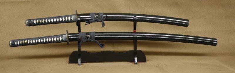 Schwertset aus Damaststahl von Jaws Schwert Shop